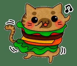 Yummy BurgerCat sticker #4415069