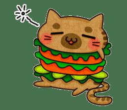 Yummy BurgerCat sticker #4415070
