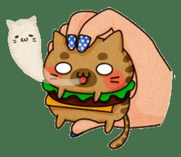 Yummy BurgerCat sticker #4415071