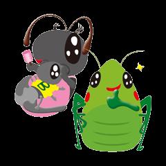 Batta-mon & Mommy-Ant from Funny Vil.