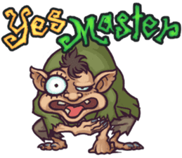 World Comical Monsters English sticker #4419608