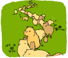 Capybara Life sticker #4420896