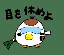 Sparrow Suzumen 2 sticker #4422342