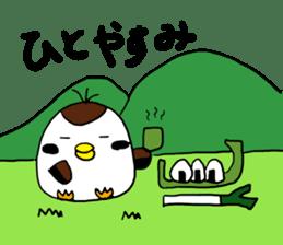 Sparrow Suzumen 2 sticker #4422347