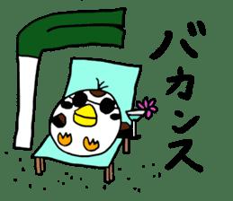 Sparrow Suzumen 2 sticker #4422349