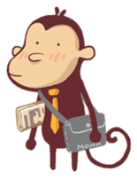 Monkey Monk sticker #4436944