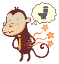 Monkey Monk sticker #4436946