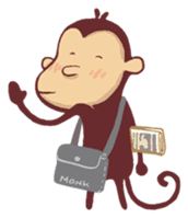 Monkey Monk sticker #4436948