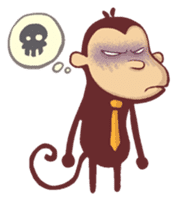 Monkey Monk sticker #4436952