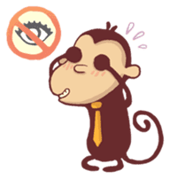 Monkey Monk sticker #4436956