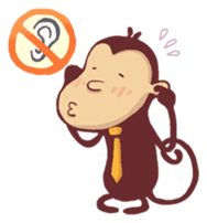 Monkey Monk sticker #4436957