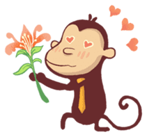 Monkey Monk sticker #4436961