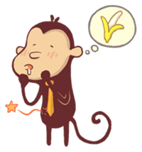 Monkey Monk sticker #4436972