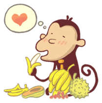 Monkey Monk sticker #4436973