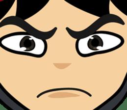 Geisha, Samurai, and Ninja emoji sticker sticker #4437904