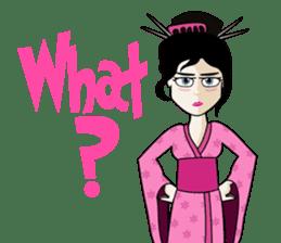 Geisha, Samurai, and Ninja emoji sticker sticker #4437940