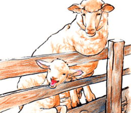 Fancy sheeps sticker #4441945
