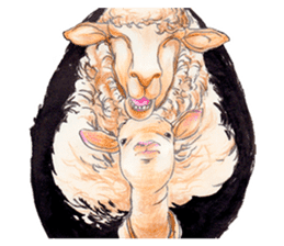 Fancy sheeps sticker #4441965