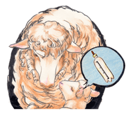 Fancy sheeps sticker #4441968