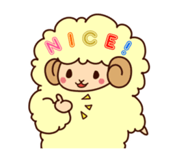 Colorful Sheep! sticker #4452464