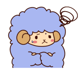 Colorful Sheep! sticker #4452468