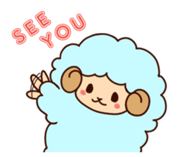 Colorful Sheep! sticker #4452471