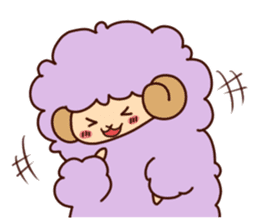 Colorful Sheep! sticker #4452480