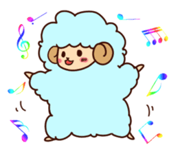 Colorful Sheep! sticker #4452484