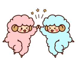 Colorful Sheep! sticker #4452486