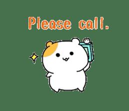 Cute hamster!! sticker #4455088