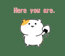 Cute hamster!! sticker #4455089