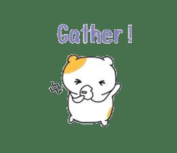 Cute hamster!! sticker #4455092