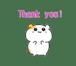 Cute hamster!! sticker #4455099