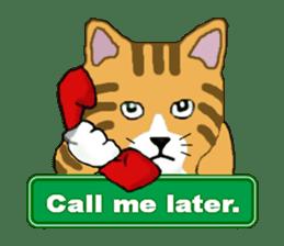 The jocular tabby (English version) sticker #4457540