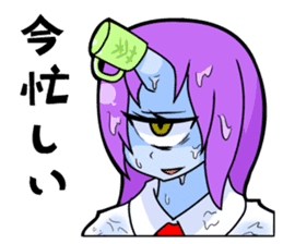 monocular monster girl sticker #4457787