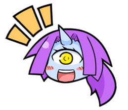 monocular monster girl sticker #4457796