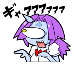 monocular monster girl sticker #4457803