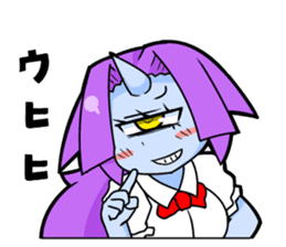 monocular monster girl sticker #4457804
