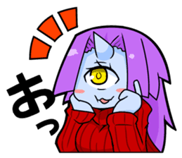 monocular monster girl sticker #4457811