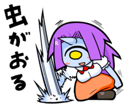monocular monster girl sticker #4457815