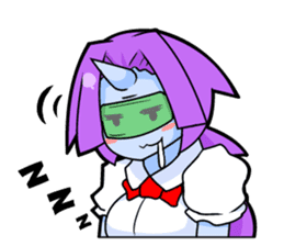 monocular monster girl sticker #4457821