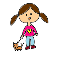 Girl of two knot sticker #4459655