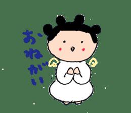 Pea angel sticker #4460016