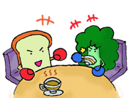 Jabbing Bread ~daily life~ sticker #4461024