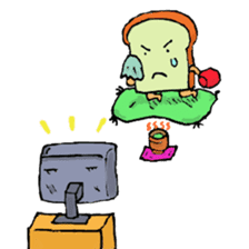 Jabbing Bread ~daily life~ sticker #4461045