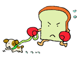 Jabbing Bread ~daily life~ sticker #4461049