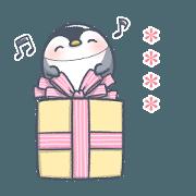 สติ๊กเกอร์ไลน์ Pretty penguin Pippi stickers 5
