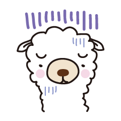Three alpacas sticker- Negative thinking