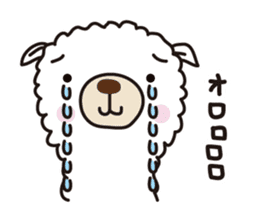 Three alpacas sticker- Negative thinking sticker #4463131