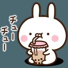 สติ๊กเกอร์ไลน์ Very Very Cute Rabbit Sticker4